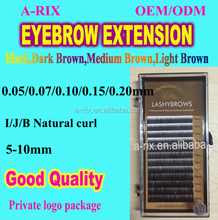 synthetic feathers fake eyebrows silk eyebrows extensions 0108