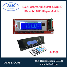 JK1530 High quality fm circuit bluetooth mp3 player module with recorder