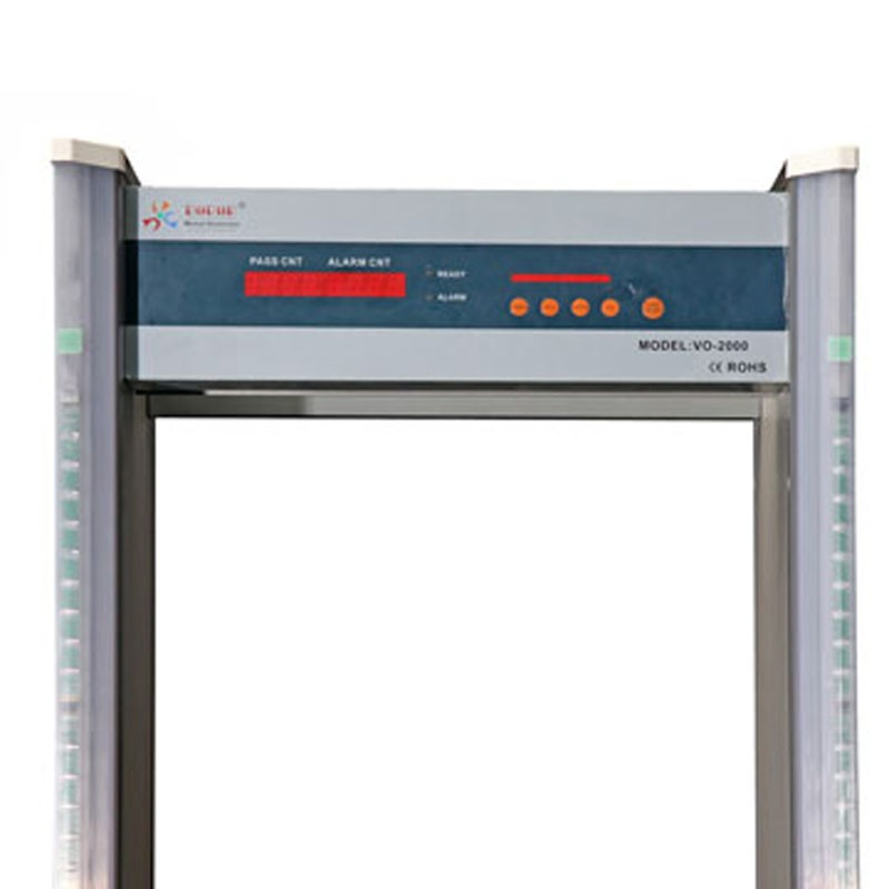 6 zone Walk-through metal detector