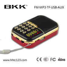 Business idea used mobile phones am/fm radio clock mini speaker (B832)