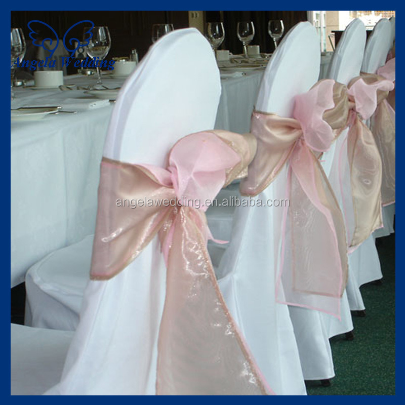 Sh016a Whole Beautiful Wedding Organza Bow C Chair Sashes
