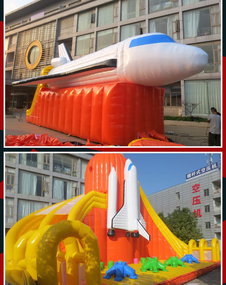 inflatable airplane amusement park jumping castle for sale