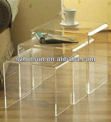 living room display units/acrylic table