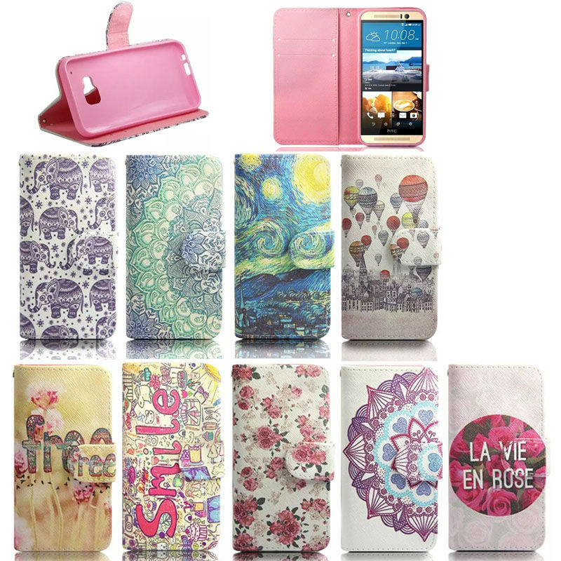 Flip PU Leather Case for HTC One M9, Smart Case Stand Cover for HTC One M9, Wallet Skin Have Stock for HTC One M9