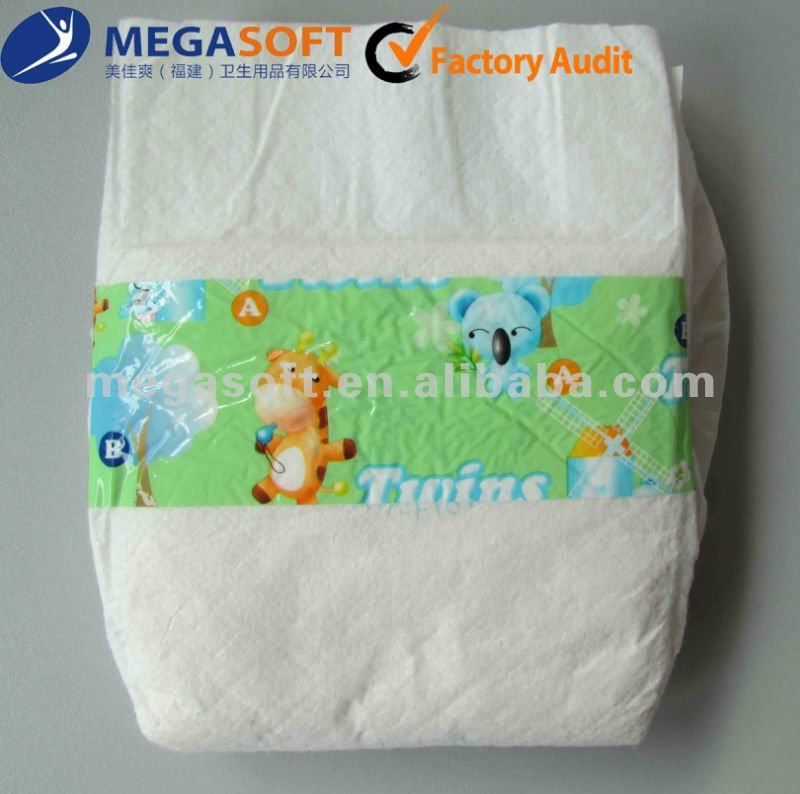 ON SALE Non-woven Baby Nappy Hot Selling in Africa Baby Diaper Manufacture in China