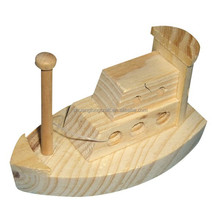 Mini wooden boat, customized small wooden boats toys for sale