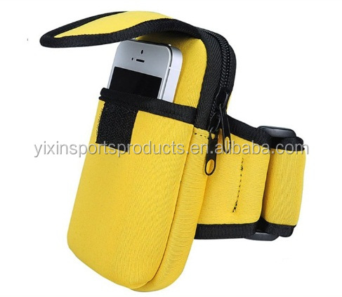 Water Resistant Neoprene Sports Gym Jogging Armband Cell Phone Bag Case