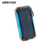 High quality 10000mAh solar power bank Micro USB rechargeable battery charger