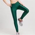 Plus Size Fluorescent Color Women Leggings Elastic Multicolor Shiny Glossy Leggings for Women