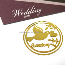Best Cheap Promotion Gold Metal Bookmark wedding door gifts for guest