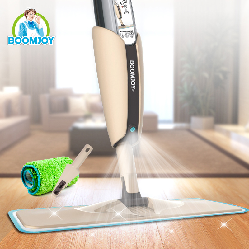 Boomjoy Magic Floor Spray Mop with Removable Bottle Detachable and Washable Pad