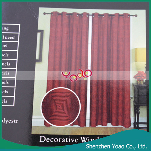 2014 Latest Jacquard Curtain Design with Grommets