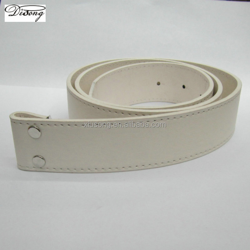 Wholesale white leather western buckle belt for men