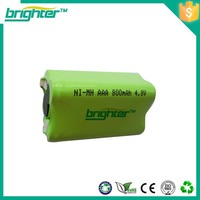 export 4.8v 600mah ni-mh aaa battery pack