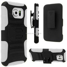 Hot Selling Hybrid Shockproof Cover Belt Cip for Galaxy S6 Case