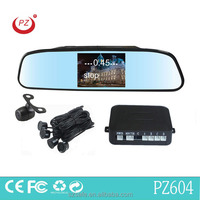 hot selling rear view mirror radar detector 4.3inch lcd monitor and cmos high definition camera