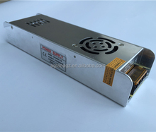 Durable Big Power LED driver 12V 360W Slim case aluminum switch mode power supply with fan cooling