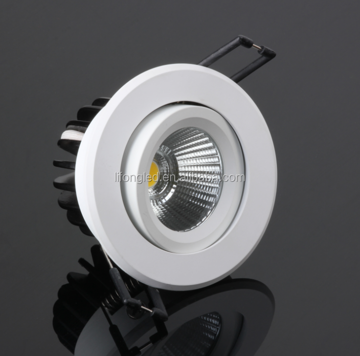 7w 9w new recessed dimmable round led downlight cob with CREE chip