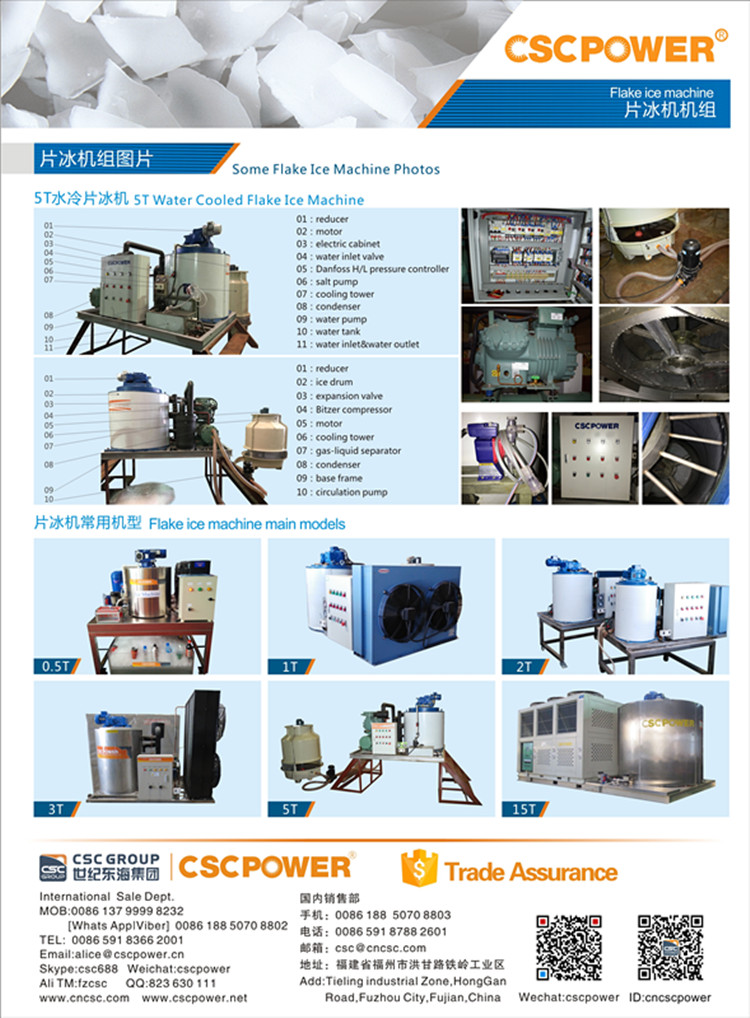 10 tons industrial flake ice machine Hot sale!Flake ice machine