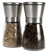 Top quality 18/8 SS Salt and Pepper grinder Shakers with Matching Stand Salt and Pepper Grinder