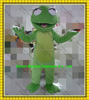 Green frog costume good visual happy adult frog macot costume for sale