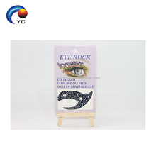 TEMPORARY FACE TATTOO BLACK LACE EYE ROCK STICKER TATTOO