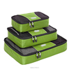 Hot sell camping travel case dural packing cubes 3 piece