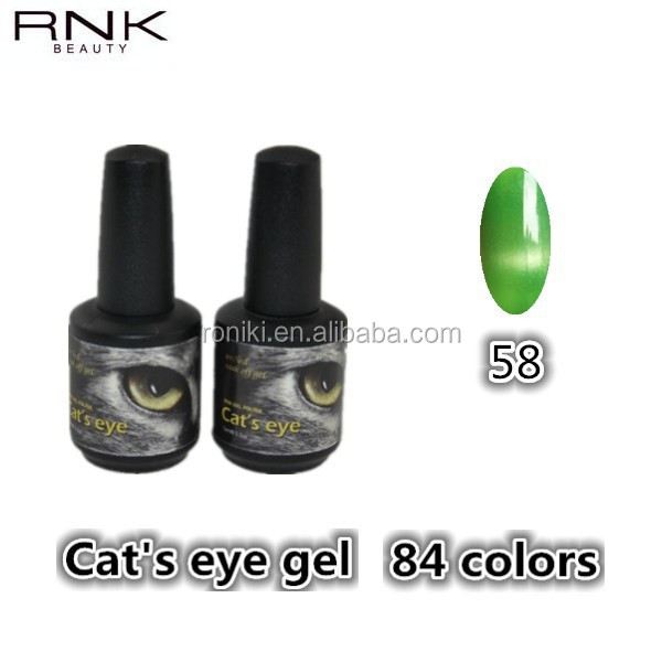 RNK most charming 3D magnetic cat eyes uv/led gel nail decorations gel polish for beautiful nail drawing art
