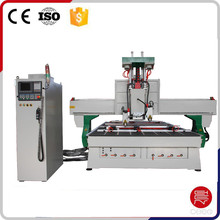 Best price wood door making machine with automatic 3 spindles cnc router machine
