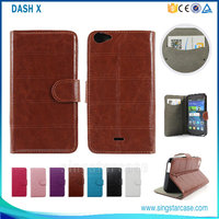 Leather case for blu dash x plus, pu wallet case for blu dash x , case cover for blu dash x high quanlity
