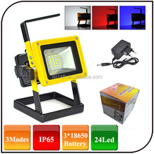 Super Bright 10W 24LED Portable Outdoor Rechargeable LED Floodlight Work Light For Camping Fishing