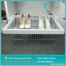 Best quality soft Closed chrome plated metal folding shoe rack