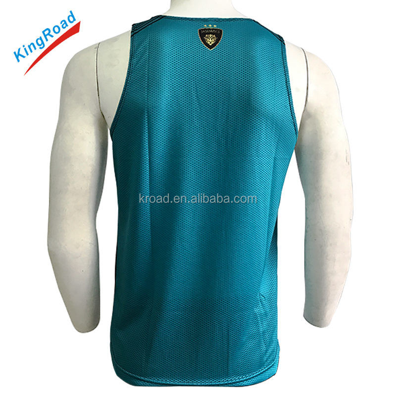 Sublimated printing dry fit Custom gym running singlets