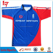 New design men's premier cricket team jersey /Cricket polo shirts with sublimated printing