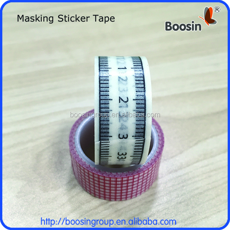 DIY Adhesive paper ruler whashi masking tape sticker, paper ruler sticker