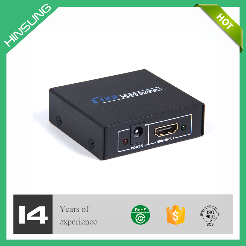 3D 1080P HDMI audio splitter video switch 1x2