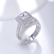 Wholesale Jenia Hot Products Good Quality Infinity Love Crystal Wedding 925 Silver Rings