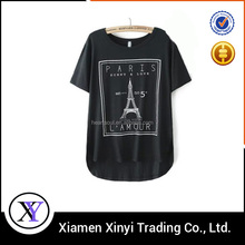 Latest Design Bulk Custom women Printed T Shirts Free Samples