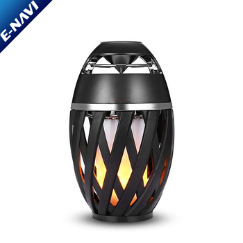 Portable Led Flame Outdoor Wireless Speakers with HD Audio and Enhanced Bass for iPhone/iPad/Android