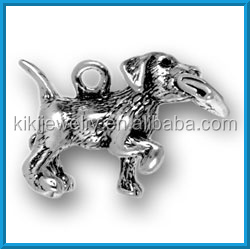 english bulldog puppy with paper cut dog charm jewelry