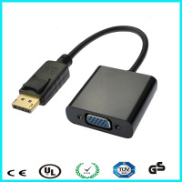 Wholesale DP to VGA, DisplayPort to VGA adapter cable male to female