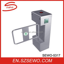 SEWO High speed new design security full automatic swing turnstile arm gate with door access control system
