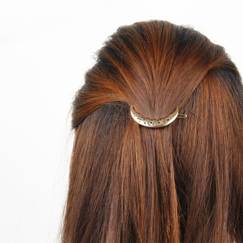 Moon Hairpin Spring Clip Fashion Personality Alloy Camber Hairpin Hair Accessories For Women