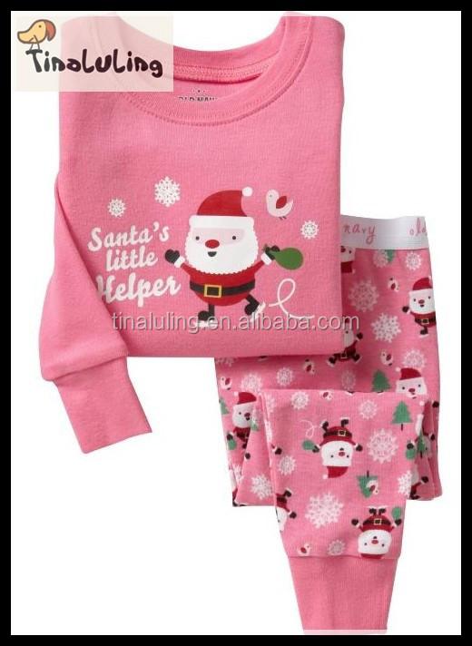 Most popular catoon printed christmas pajamas kids children clothing