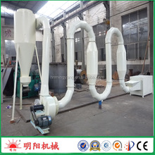Factory price air flow type continuous pipe sawdust dryer for sale