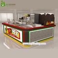 high quality Mexico burrito kiosk with fast food snack kiosk shop furniture decoration design