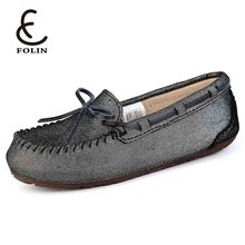 Real leather women shoes 2018 high quality boat shoe makers in China genuine leather ladies loafers new fashion shoes