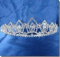 Bridal Wedding Crown Veil Pageant Metal alloy Tiara hair ornament pin jewelry