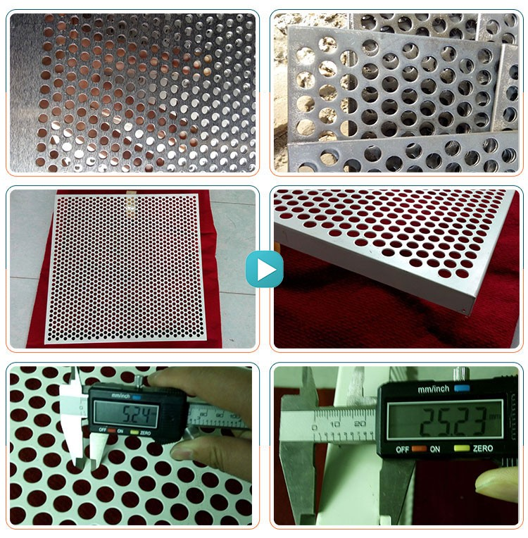 Round hole decorative plate perforated metal mesh