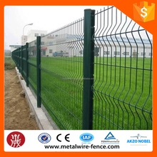 PVC coated welded wire mesh fence / Price rigid mesh fence / Powder coated fence steel panel